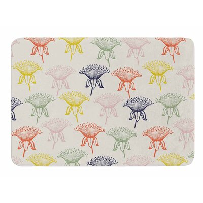 Rainbow Poppies by Gukuuki Memory Foam Bath Mat