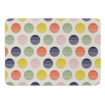 Rainbow Dots by Gukuuki Memory Foam Bath Mat