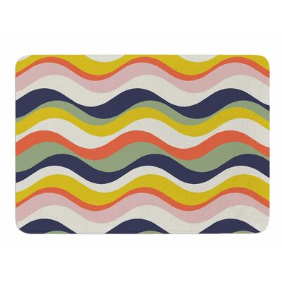 Rainbow Stripes by Gukuuki Memory Foam Bath Mat
