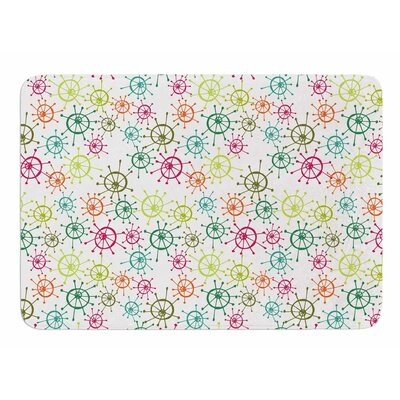 Mod Flower Burst by Holly Helgeson Memory Foam Bath Mat