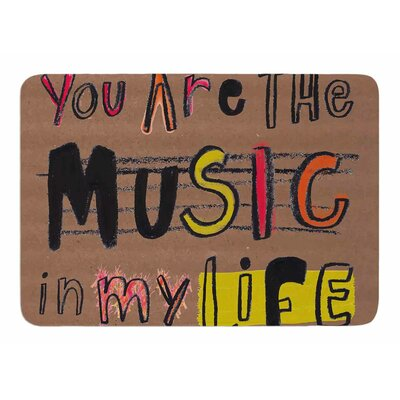 Music in My Life by MaJoBV Memory Foam Bath Mat