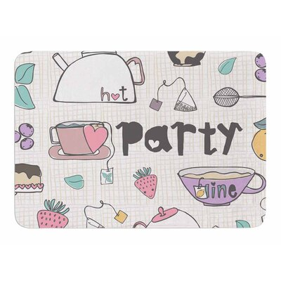 Tea Party by MaJoBV Memory Foam Bath Mat
