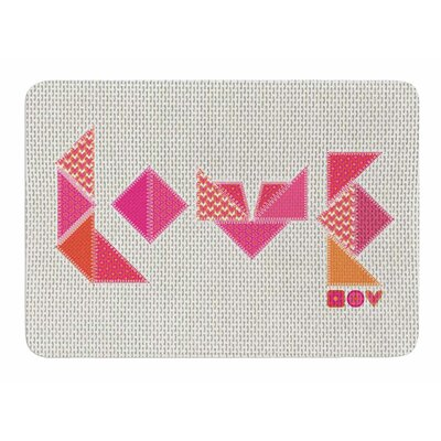 Stitched Love by MaJoBV Memory Foam Bath Mat