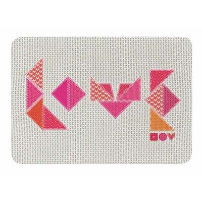 Stitched Love by MaJoBV Memory Foam Bath Mat