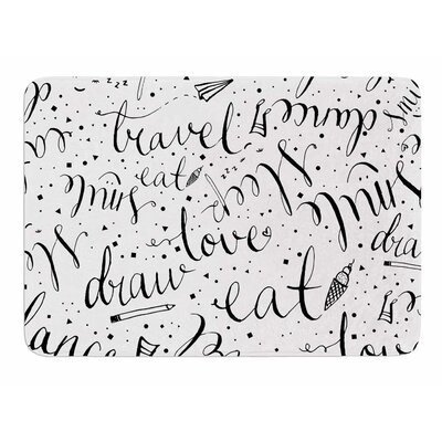 Life Must-dos / Black by MaJoBV Memory Foam Bath Mat