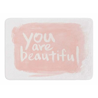 Brush Lettering Beautiful by Sing Jo Memory Foam Bath Mat