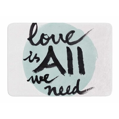 Love is all We Need by Sing Jo Memory Foam Bath Mat