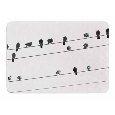 Birds on Wire by Sing Jo Memory Foam Bath Mat