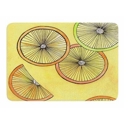 Lemons and Limes by Rosie Brown Memory Foam Bath Mat