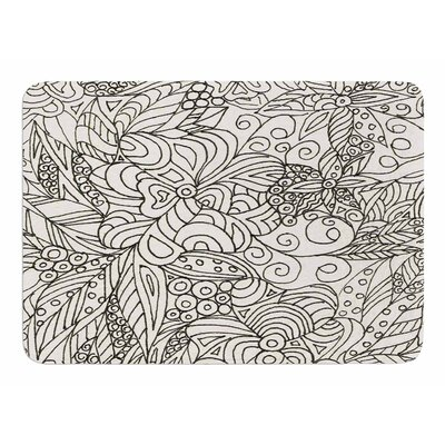 Zentangle Garden by Rosie Brown Memory Foam Bath Mat