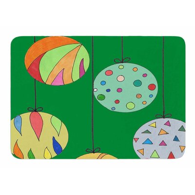 Trim the Tree Green by Rosie Brown Memory Foam Bath Mat