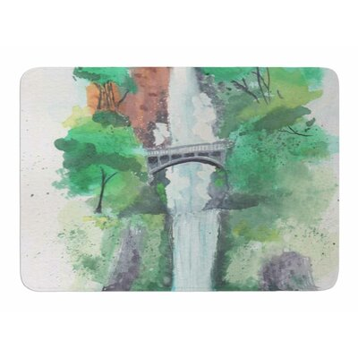 Multan Falls Watercolor by Rebekah Bender Memory Foam Bath Mat