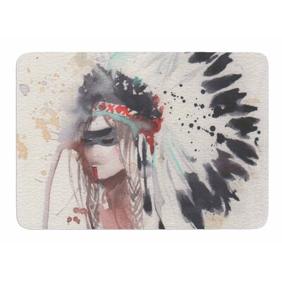 Warrior Bride by Rebekah Bender Memory Foam Bath Mat