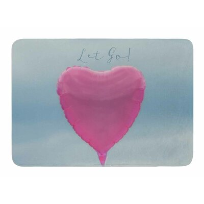 Let Go! by Robin Dickinson Memory Foam Bath Mat