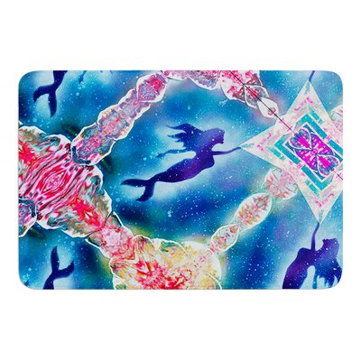 Mermaid Pattern by Infinite Spray Art Memory Foam Bath Mat
