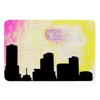 Skylined by Infinite Spray Art Memory Foam Bath Mat