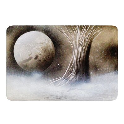 White Tree by Infinite Spray Art Memory Foam Bath Mat