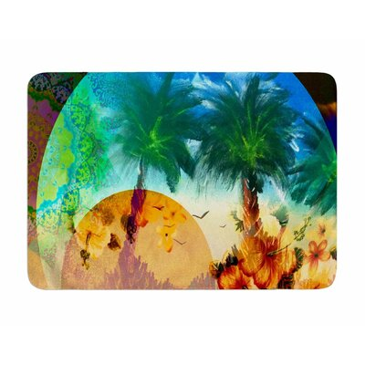 Paradise Patterns by Infinite Spray Art Memory Foam Bath Mat