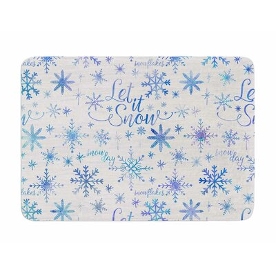 Let It Snow Winter Pattern by Noonday Design Memory Foam Bath Mat