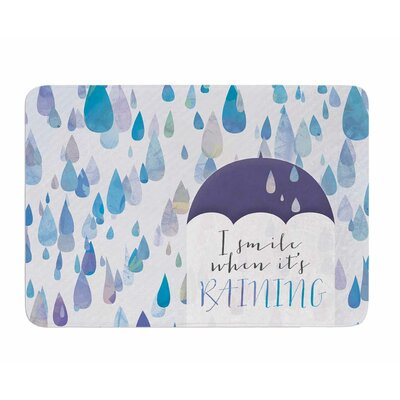 I Smile When Its Raining by Noonday Design Memory Foam Bath Mat