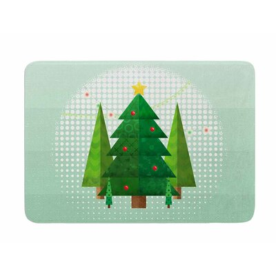 Geometric Christmas Tree by Noonday Design Memory Foam Bath Mat