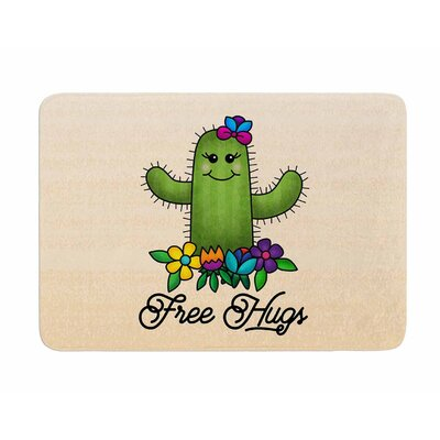 Free Hugs Cactus by Noonday Design Memory Foam Bath Mat