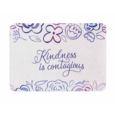 Kindness is Contagious by Noonday Design Memory Foam Bath Mat