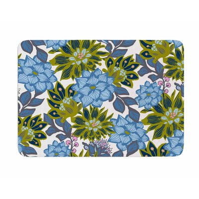 Dahlias by Amy Reber Memory Foam Bath Mat