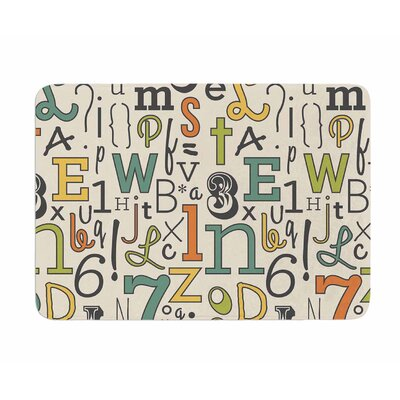 ABC by Busy Bree Memory Foam Bath Mat