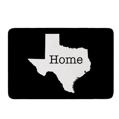 Texas State Outline by Bruce Stanfield Memory Foam Bath Mat