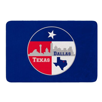 Dallas Texas by Bruce Stanfield Memory Foam Bath Mat