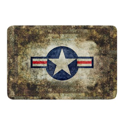 USAF Vintage Retro Style Round by Bruce Stanfield Memory Foam Bath Mat