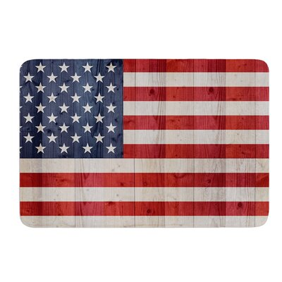 USA Flag on Spruce by Bruce Stanfield Memory Foam Bath Mat
