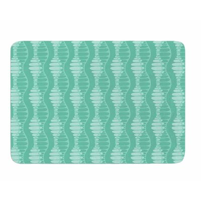Mod Waves by Holly Helgeson Memory Foam Bath Mat