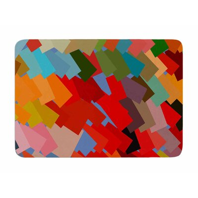 Playful Rectangles by Matthias Hennig Memory Foam Bath Mat
