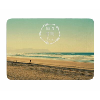 Take Me To the Sea by Robin Dickinson Memory Foam Bath Mat