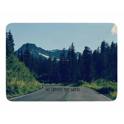 Go Explore the World by Robin Dickinson Memory Foam Bath Mat