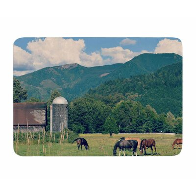 Country Life by Robin Dickinson Memory Foam Bath Mat