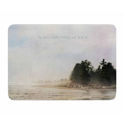 He Who Seeks Beauty by Robin Dickinson Memory Foam Bath Mat