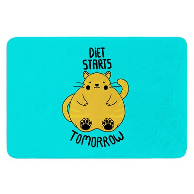 Diet Starts Tomorrow by Tobe Fonseca Bath Mat
