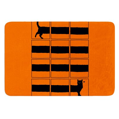 The Long Cat is Long by Tobe Fonseca Bath Mat
