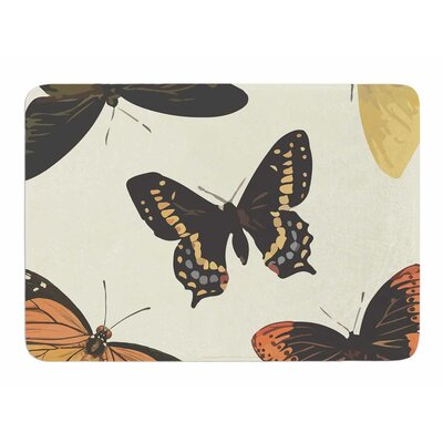 Vintage Butterflies by NL Designs Bath Mat