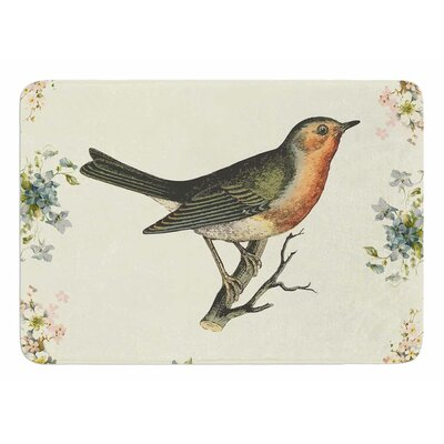Vintage Bird 3 by NL Designs Bath Mat