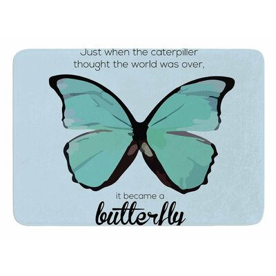 Blue Butterfly by NL Designs Bath Mat