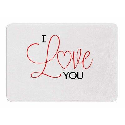 I Love You by NL Designs Bath Mat