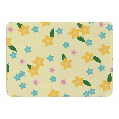 Tropical Flowers by NL Designs Bath Mat