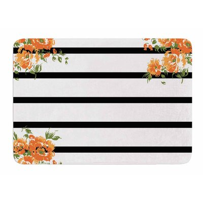 Floral Stripes by NL Designs Bath Mat