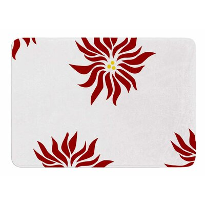 Pointsettias by NL Designs Bath Mat