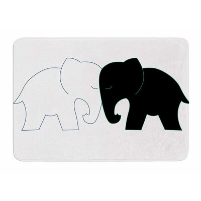 Elephant Love by NL Designs Bath Mat
