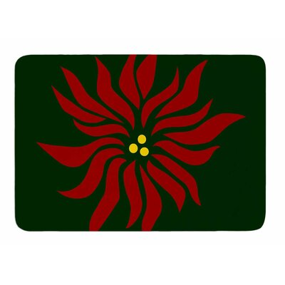 Pointsettia by NL Designs Bath Mat